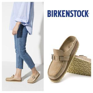 Birkenstock Buckley Suede Leather Clog in Sand Color Size 6